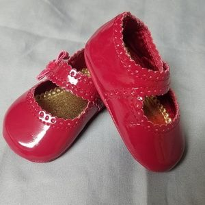 Gymboree baby girl red dress shoes